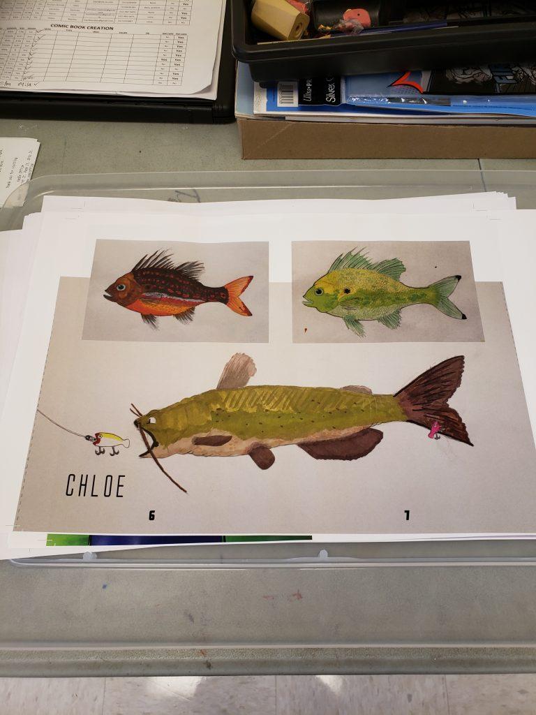 Comic Book Art Fish